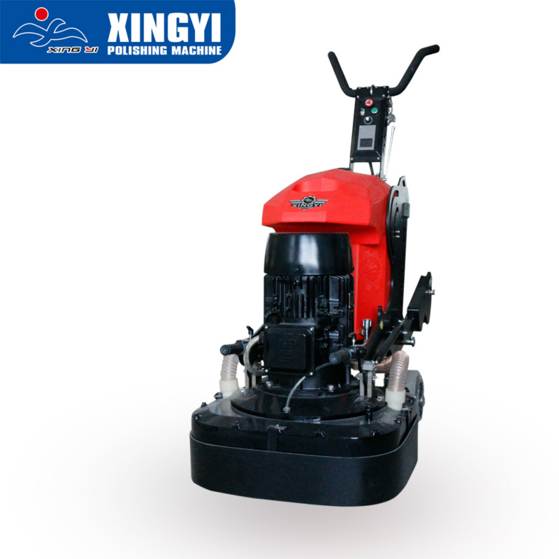 Efficient floor grinder with integrated gearbox