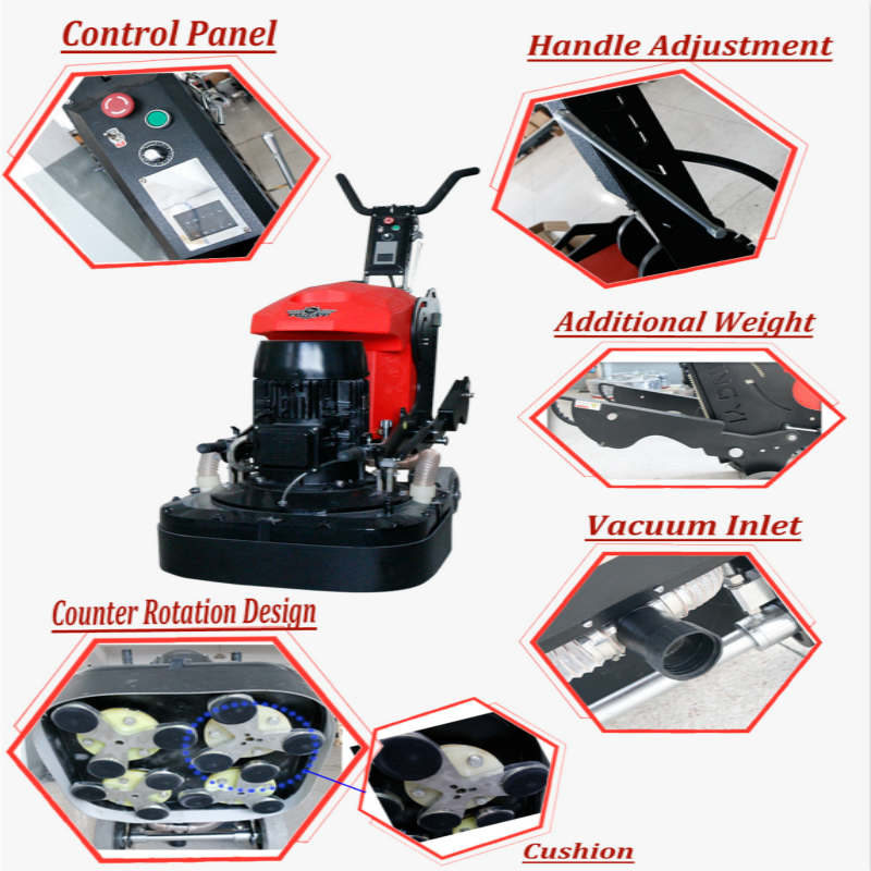 High-powered floor grinding machine