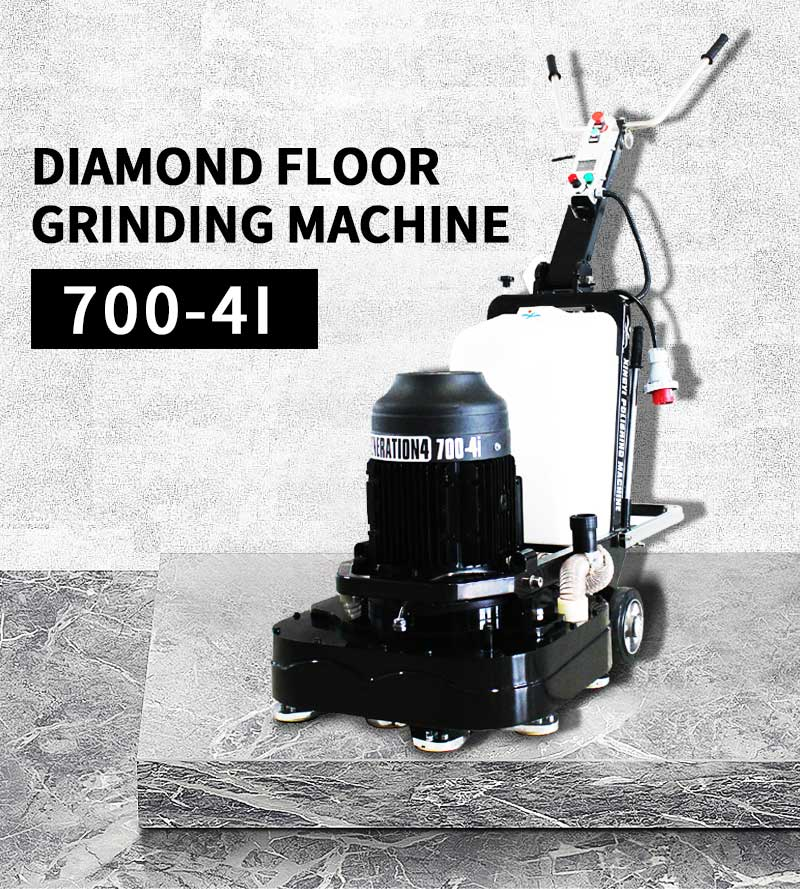 Hand push concrete and stone polisher